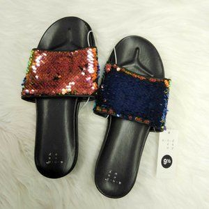 A New Day Adila Irridecent Sequins Slide Sandals